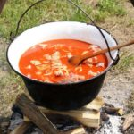 Outdoor-cooked-soup